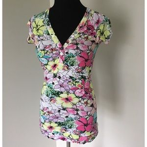 American Rag Floral Short Sleeve Top
